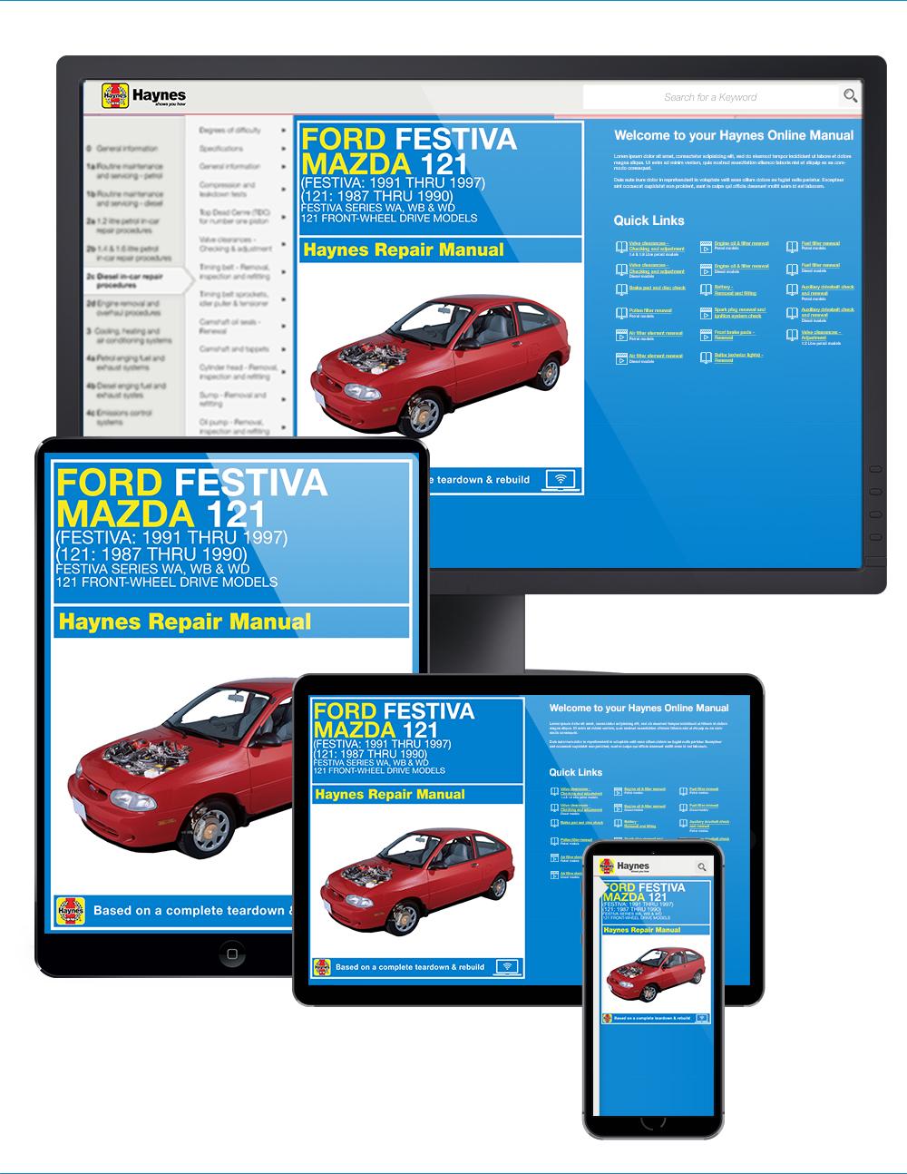 Enlarge Ford Festiva (91-97) and Mazda 121 ...