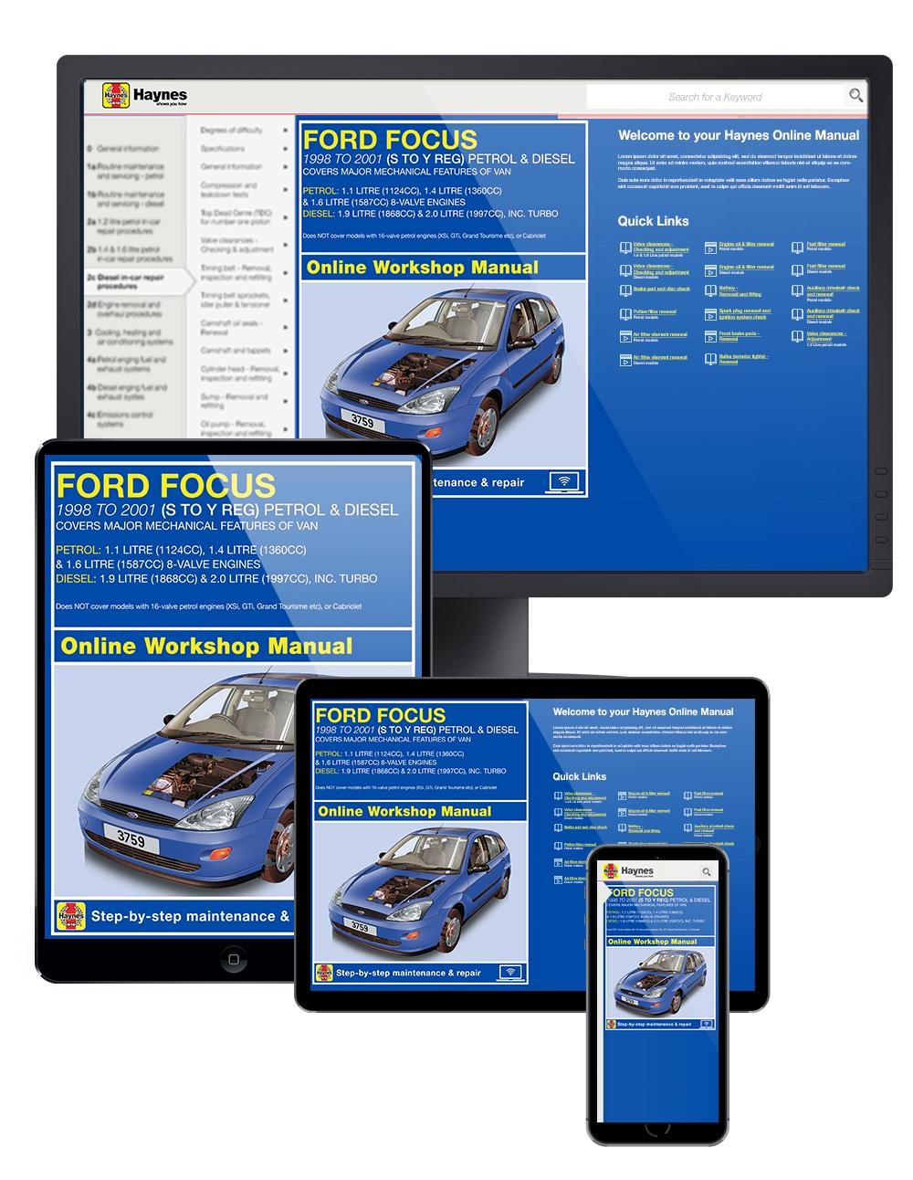 Enlarge Ford Focus Petrol and Diesel ...