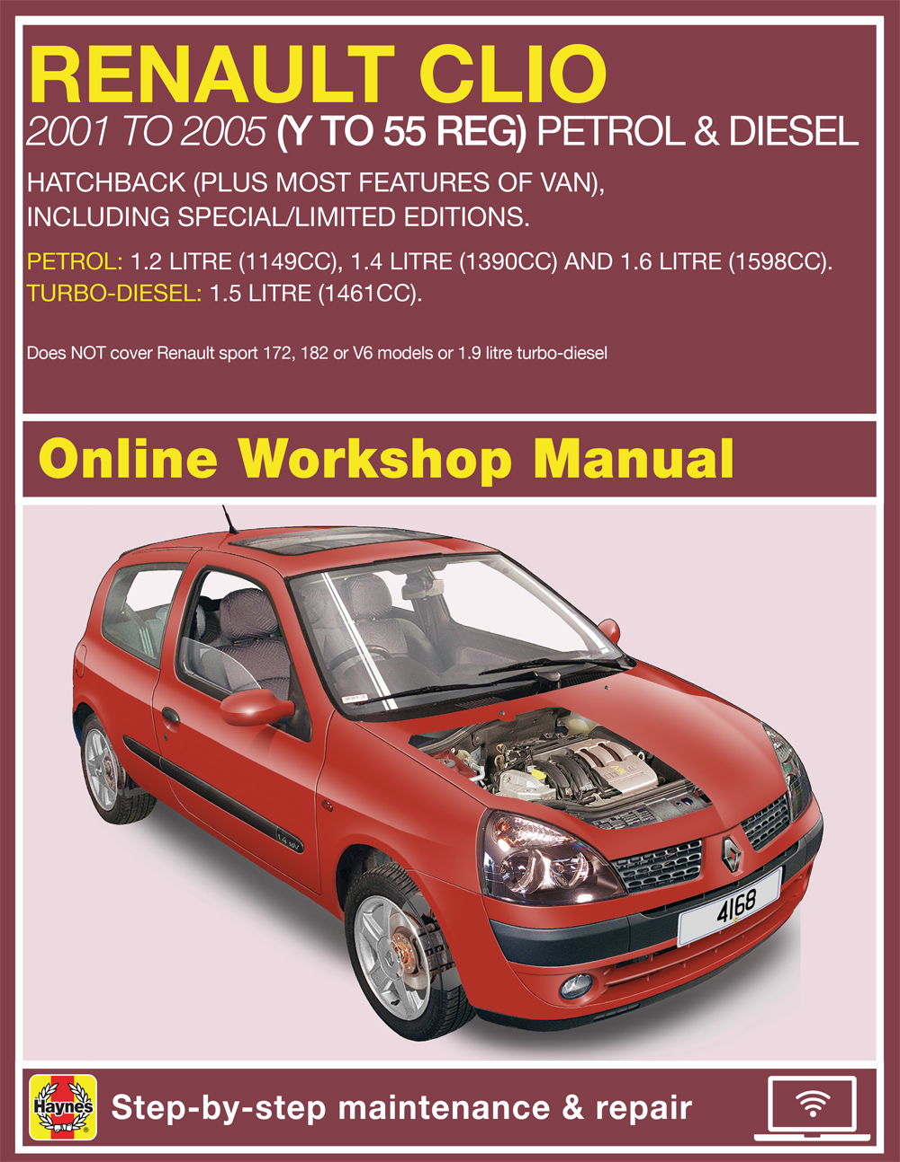 renault clio petrol and diesel jun 01 05 y to 55 haynes online rh haynes com renault clio 182 manual clio sport 182 manual
