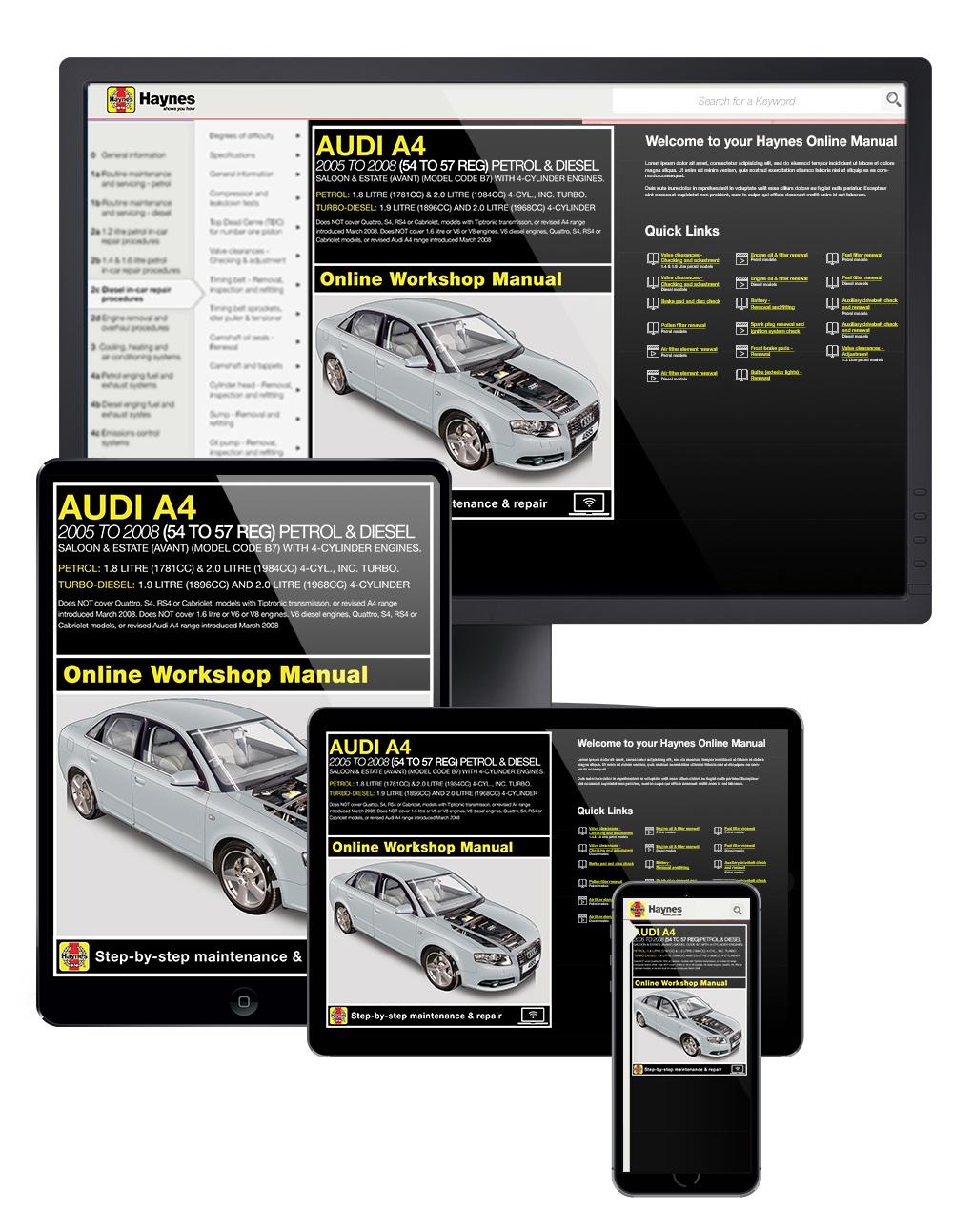 A4 Haynes Manuals 2005 Audi Engine Schematics Enlarge