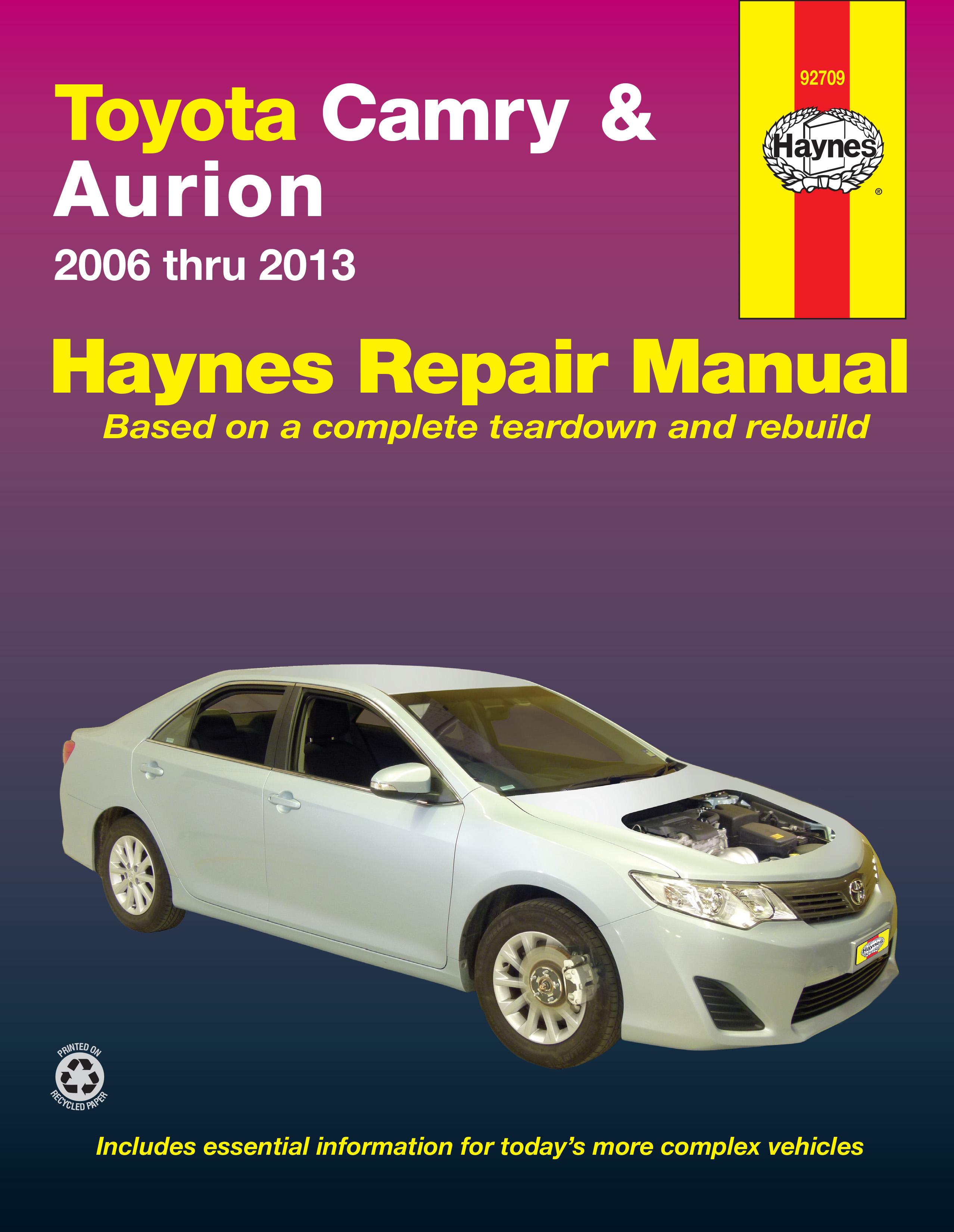 Enlarge Toyota Camry & Toyota Aurion (06-13) Haynes Repair Manual