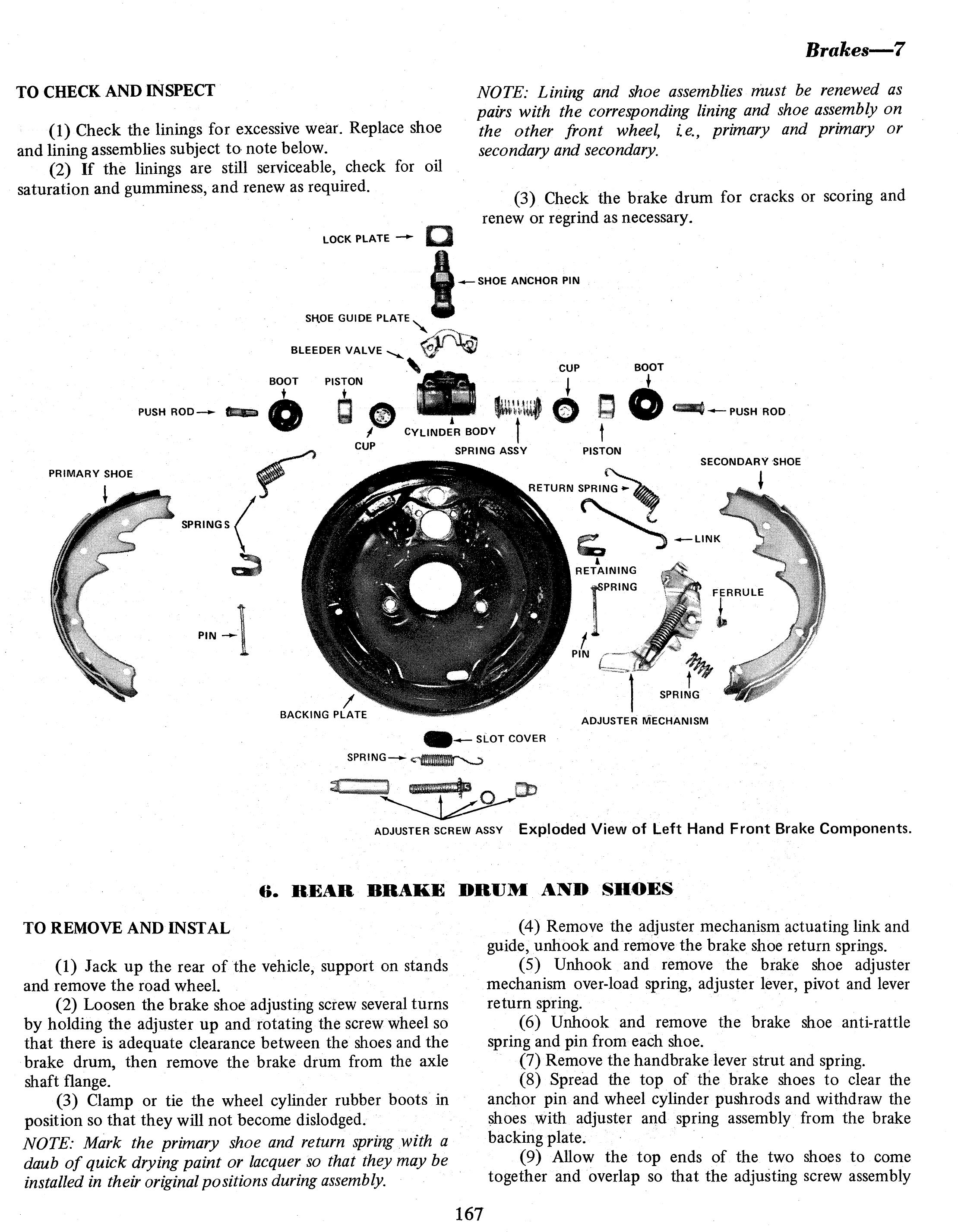 Holden Belmont Kingswood Monaro Premier 6 Cylinder 68 71 Exploded Diagram Of Drum Brake Gregorys