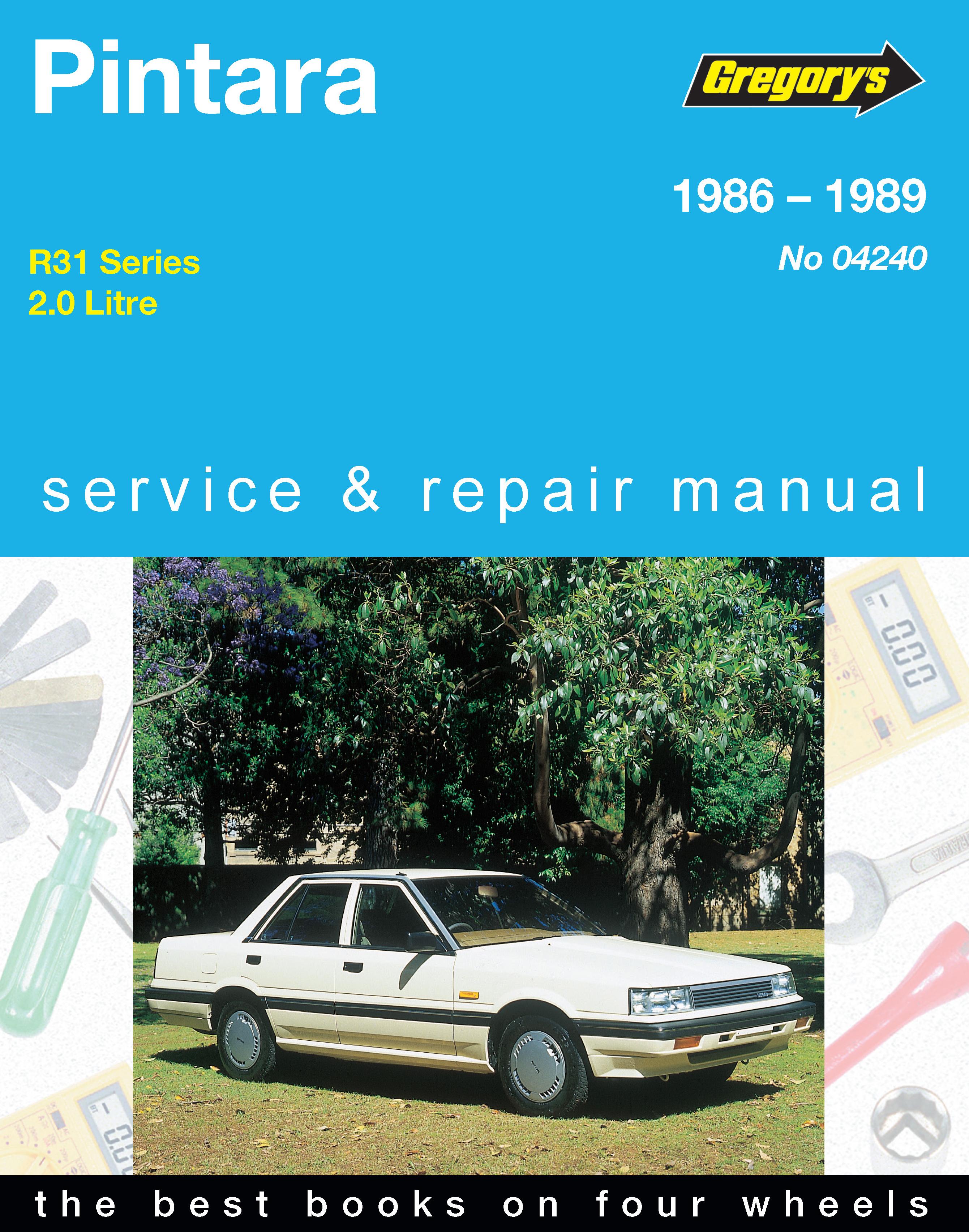 nissan pintara 86 89 gregorys repair manual haynes manuals rh haynes com nissan pintara trx manual nissan pintara u12 workshop manual