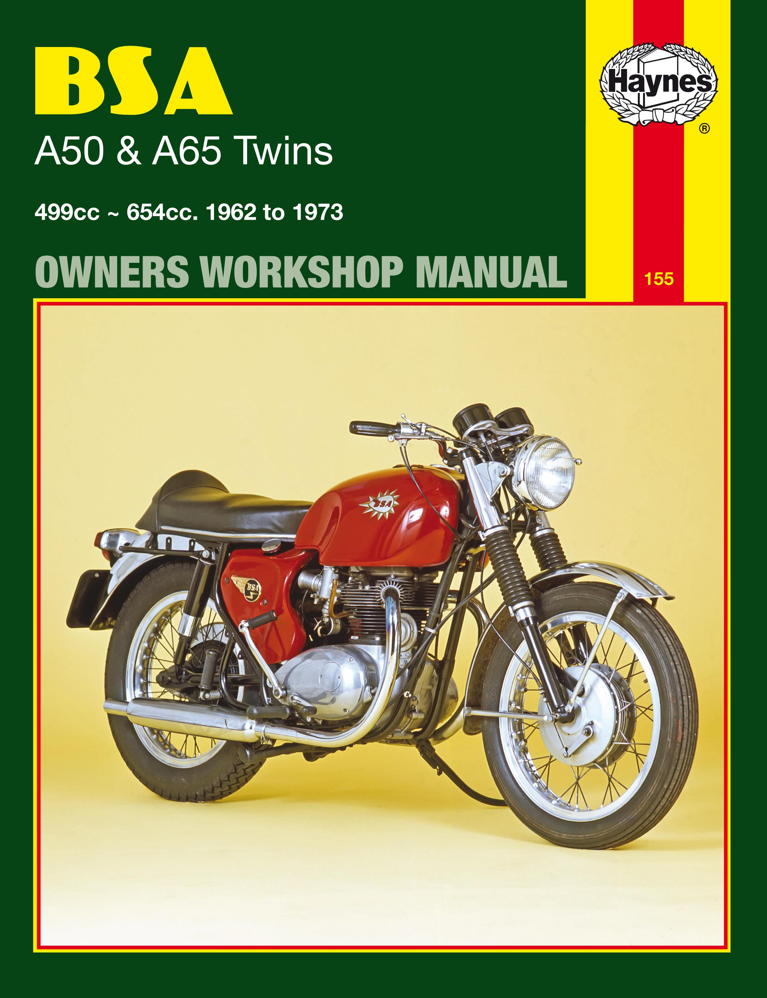 BSA A50C Cyclone Haynes Manual 0155 Service & Repair Manuals Car Manuals & Literature