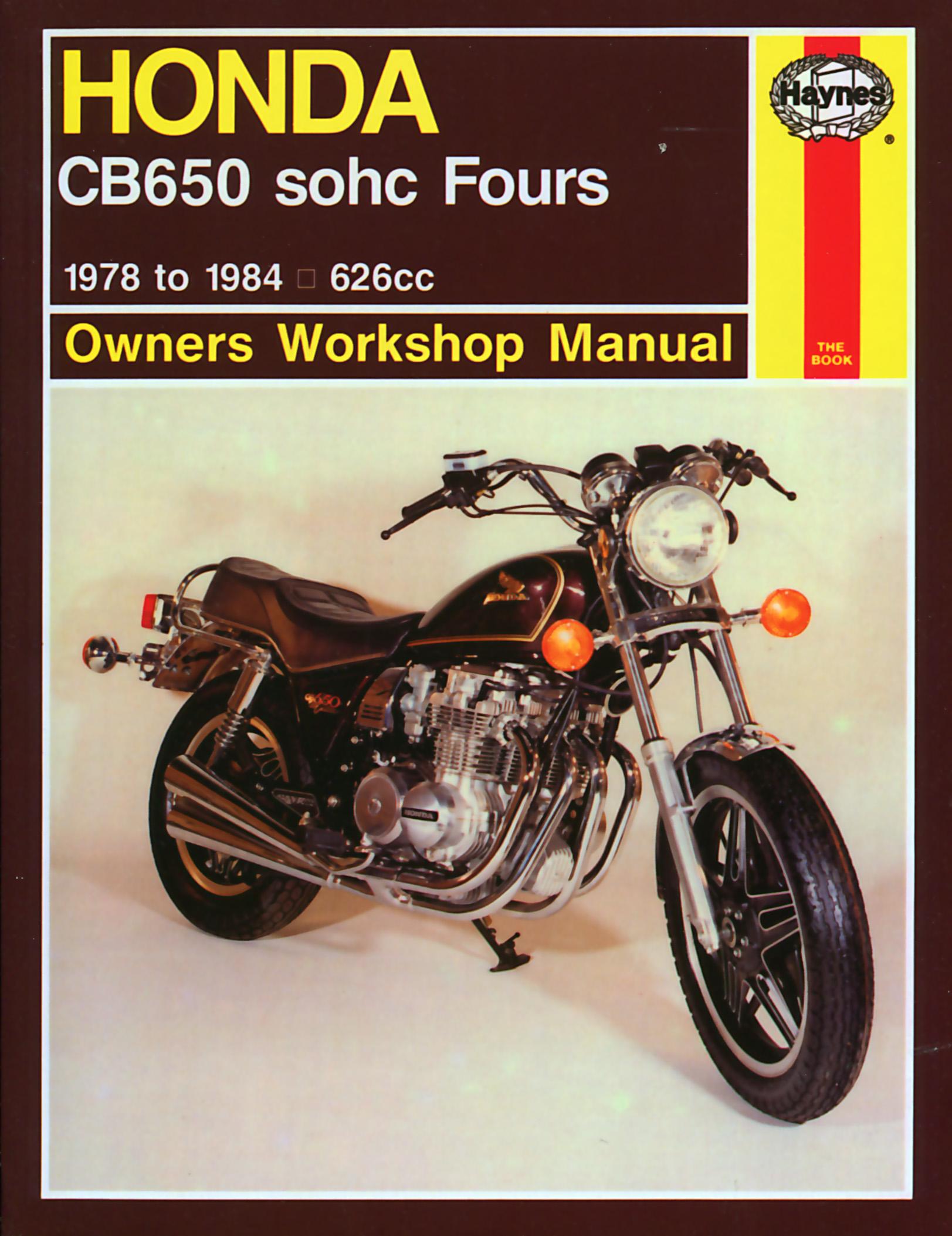 84 Cb650 Wiring Diagram Electrical Diagrams Honda Sohc Fours 78 Haynes Repair Manual Manuals Gl1500