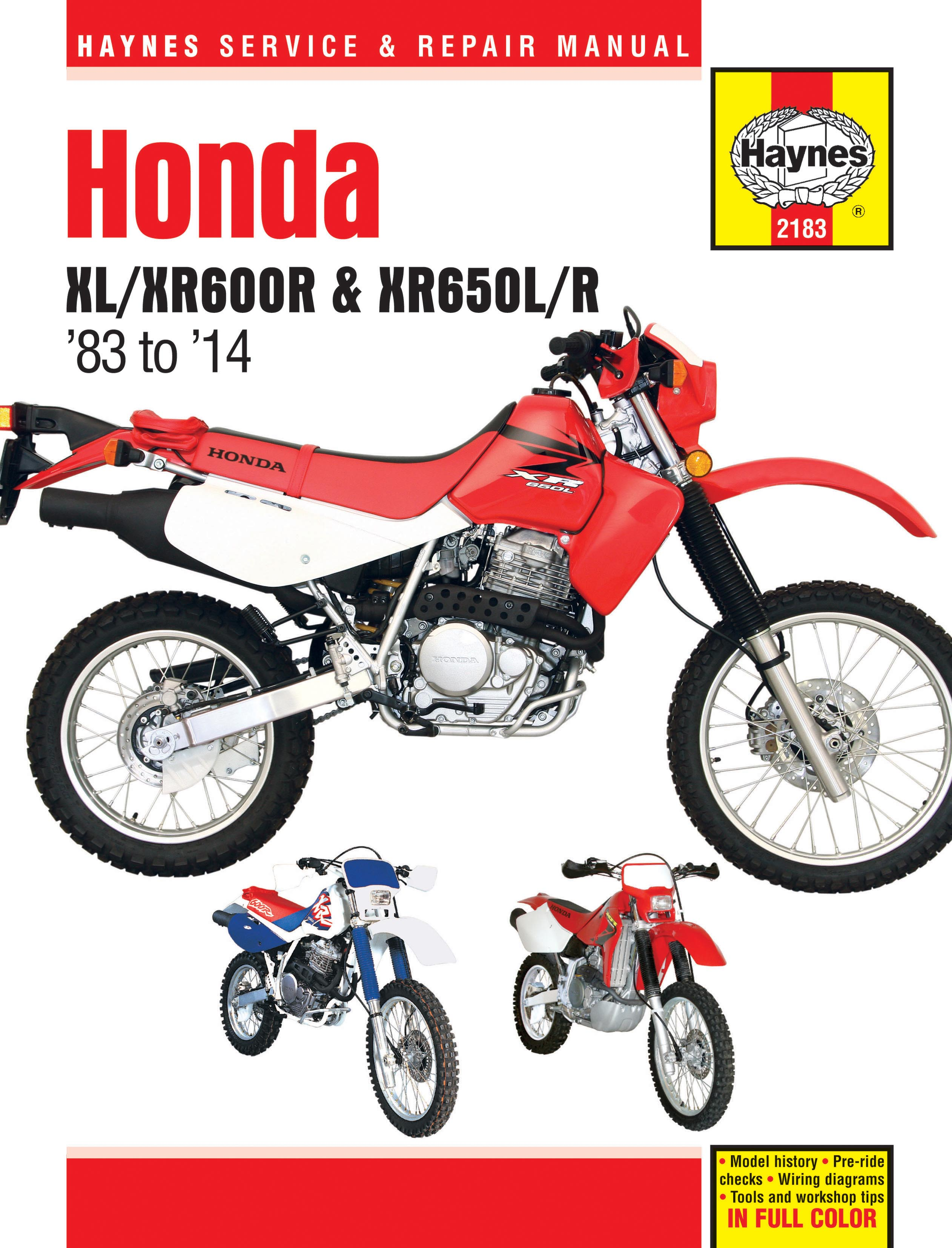 Honda Motorcycle XR650R (2000 - 2007) Repair Manuals on