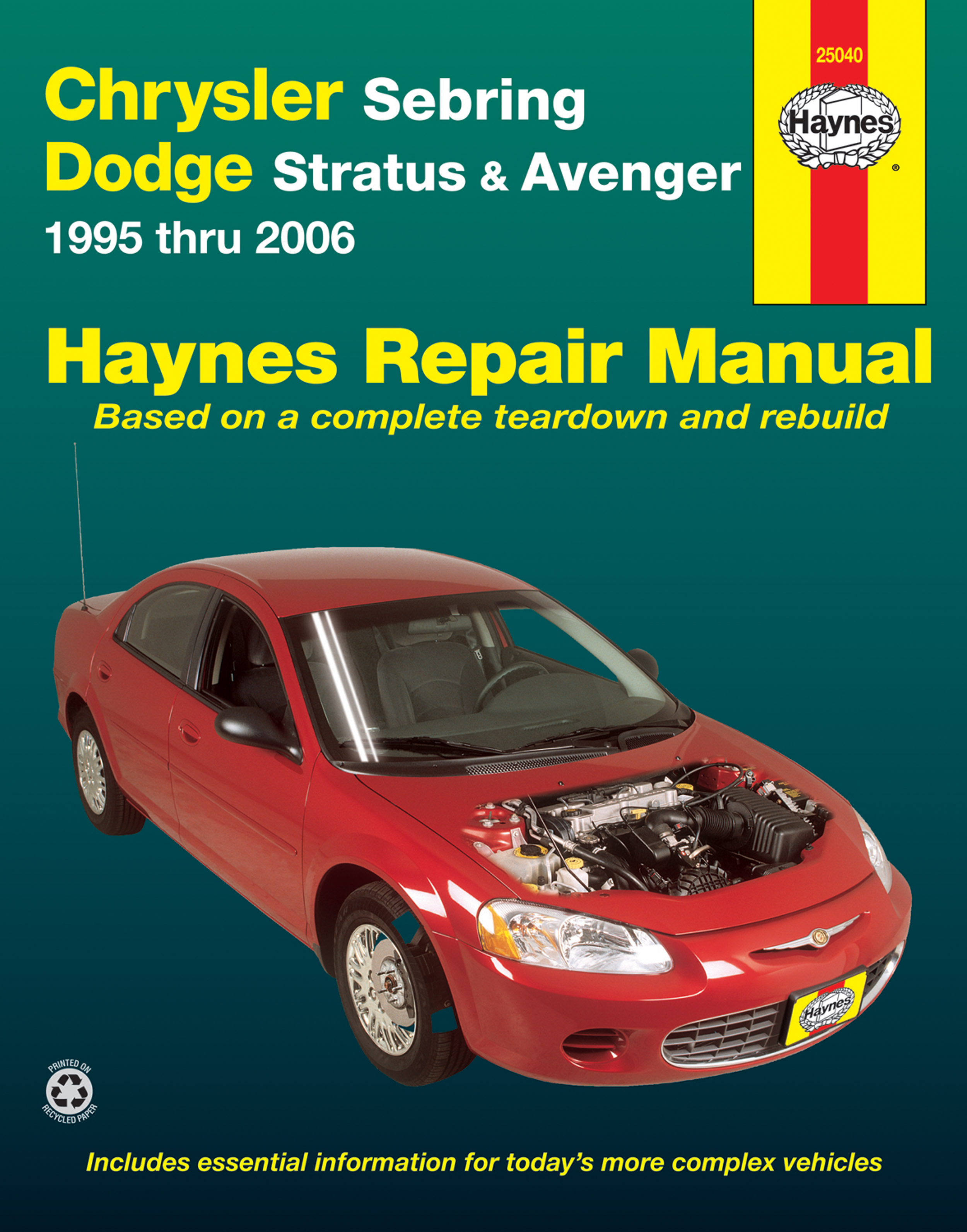 Chrysler Sebring Dodge Stratus Avenger 95 06 Haynes Repair 1995 Wiring Diagram Manual Usa