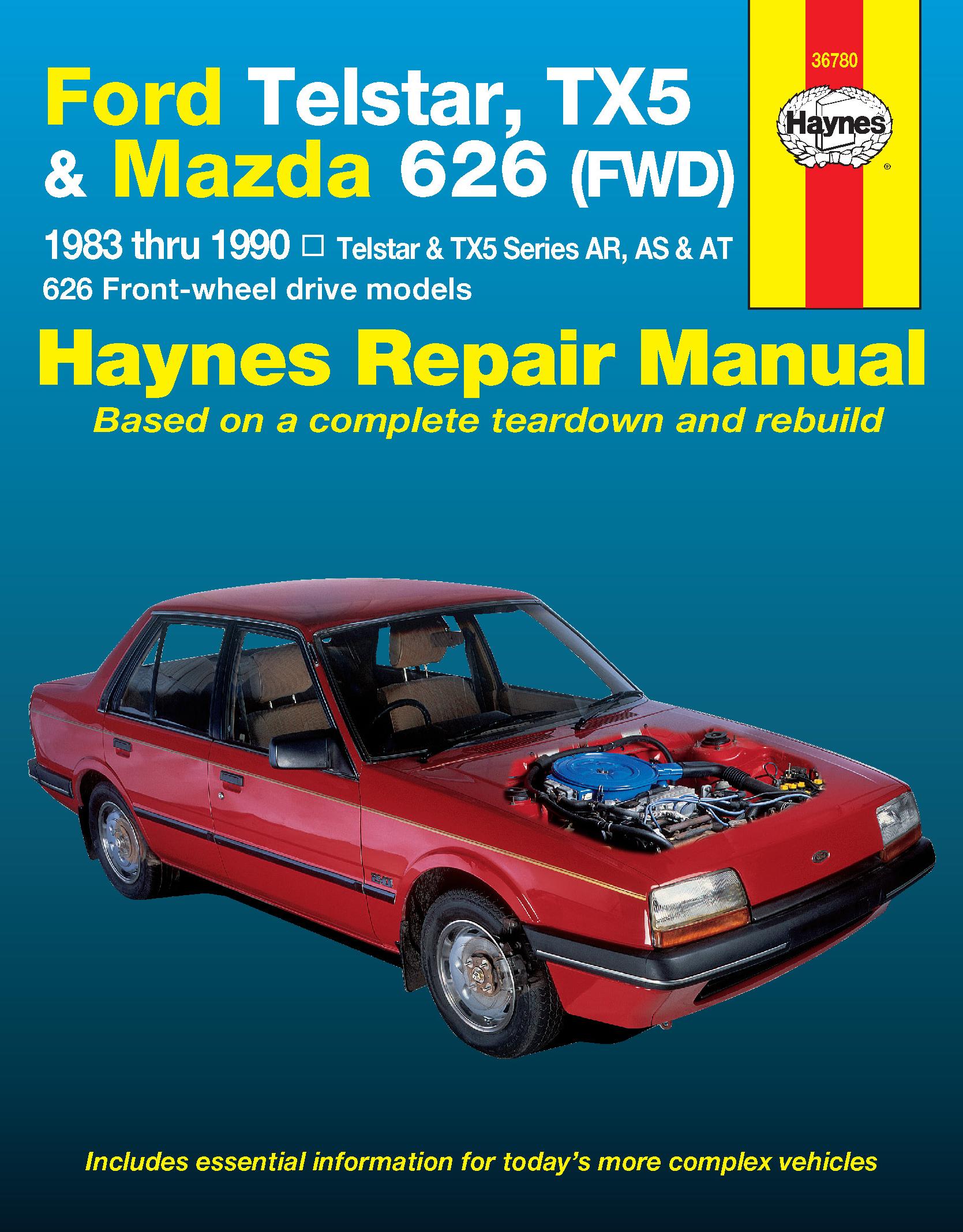 Enlarge Ford Telstar and Mazda TX5 and 626 (83-90) Haynes Repair Manual