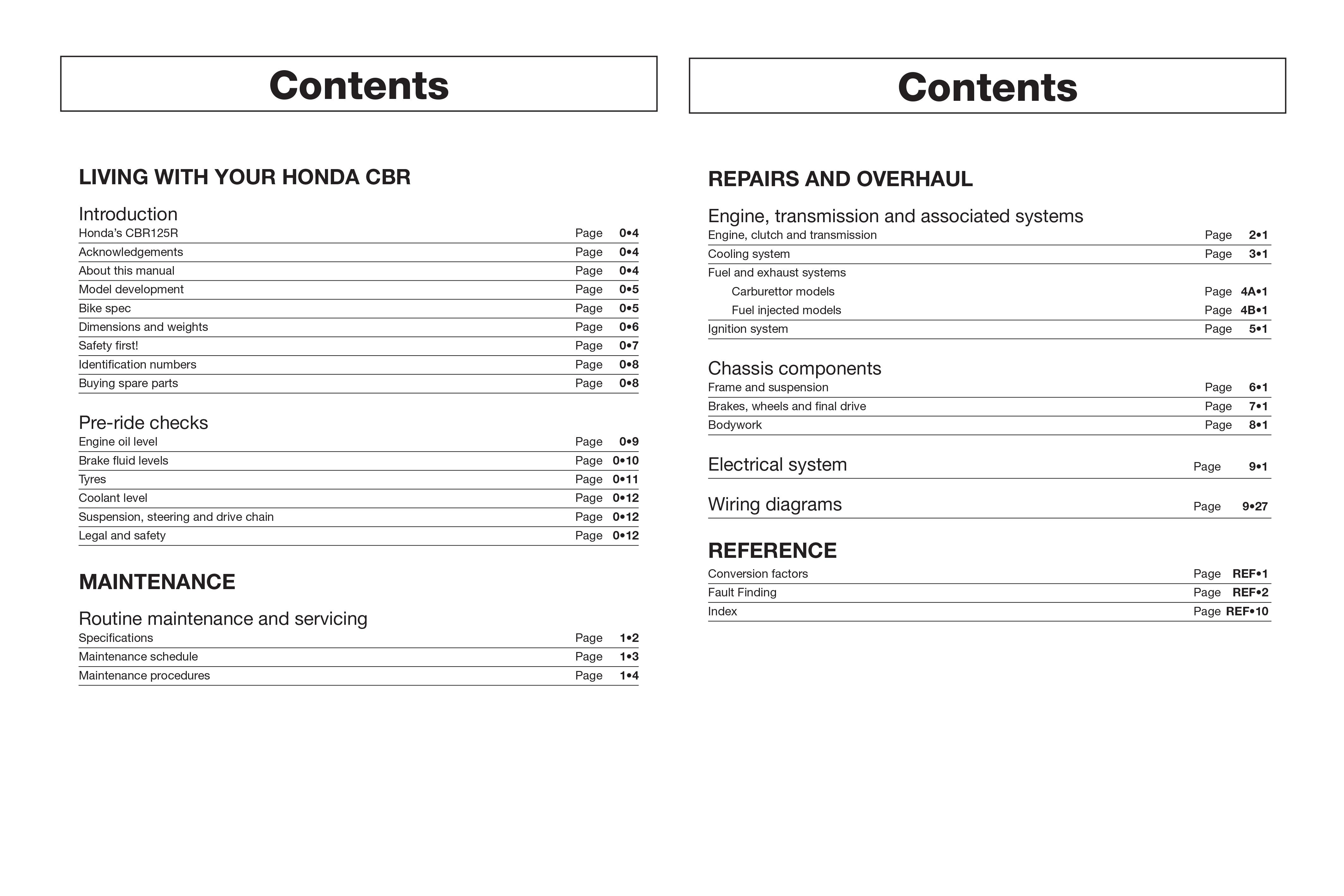 Honda CBR125R (04 - 10) Haynes Repair Manual
