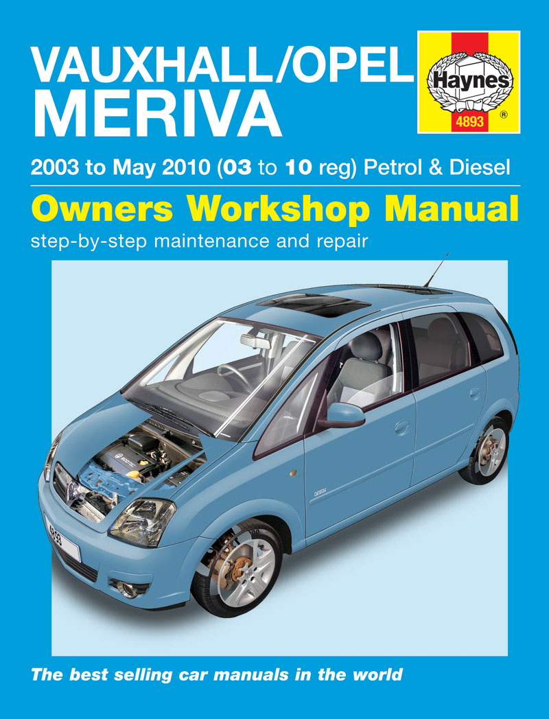 vauxhall opel meriva petrol diesel 03 may 10 haynes repair manual haynes manuals. Black Bedroom Furniture Sets. Home Design Ideas