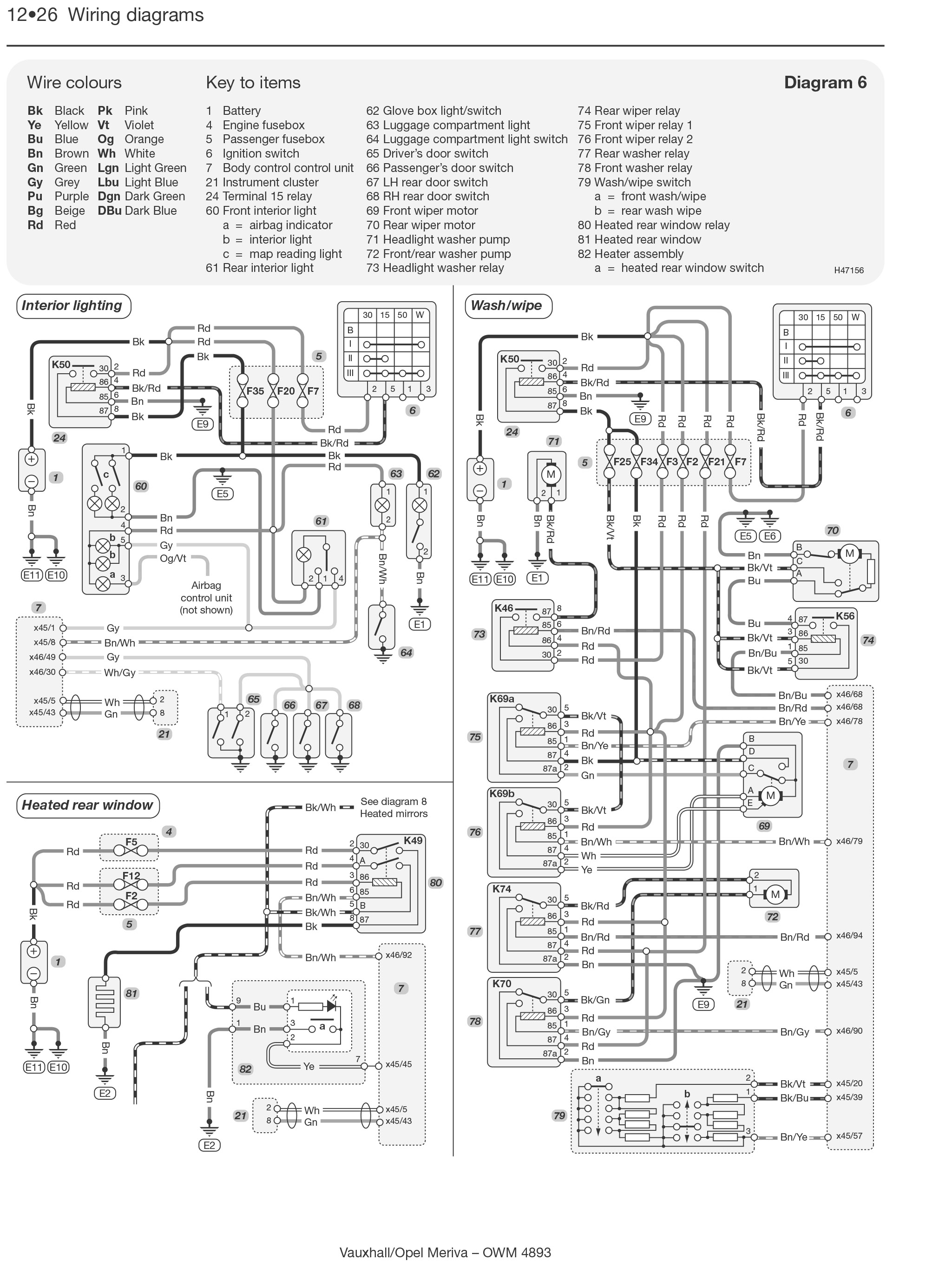 Opel Ac Wiring Diagram Free For You Vauxhall Meriva Petrol Diesel 03 May 10 Haynes Corsa A Frontera