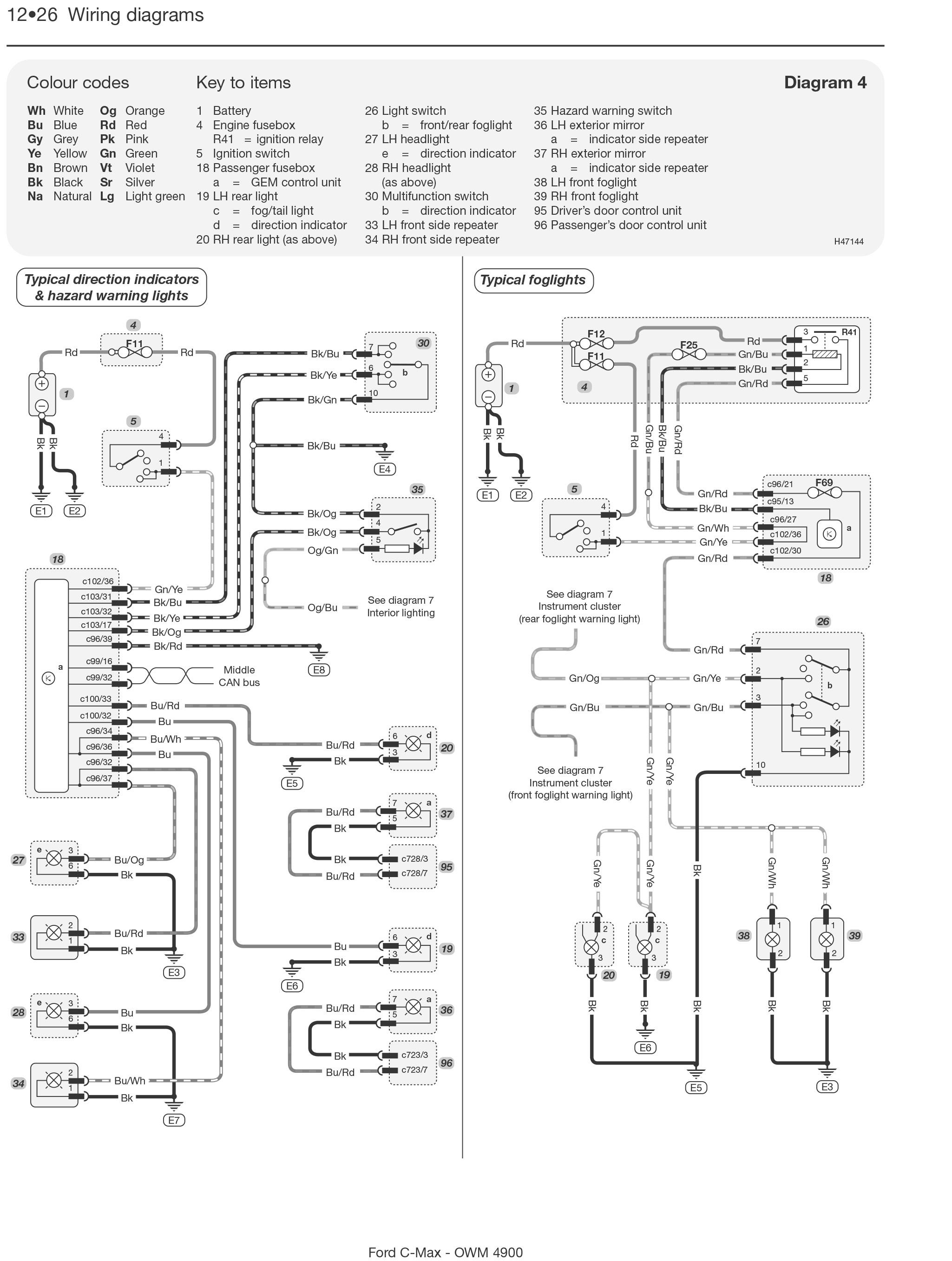 ford c-max petrol & diesel (03 - 10) haynes repair manual ... ford c max 2008 wiring diagrams ford c max 2007 fuse box diagram