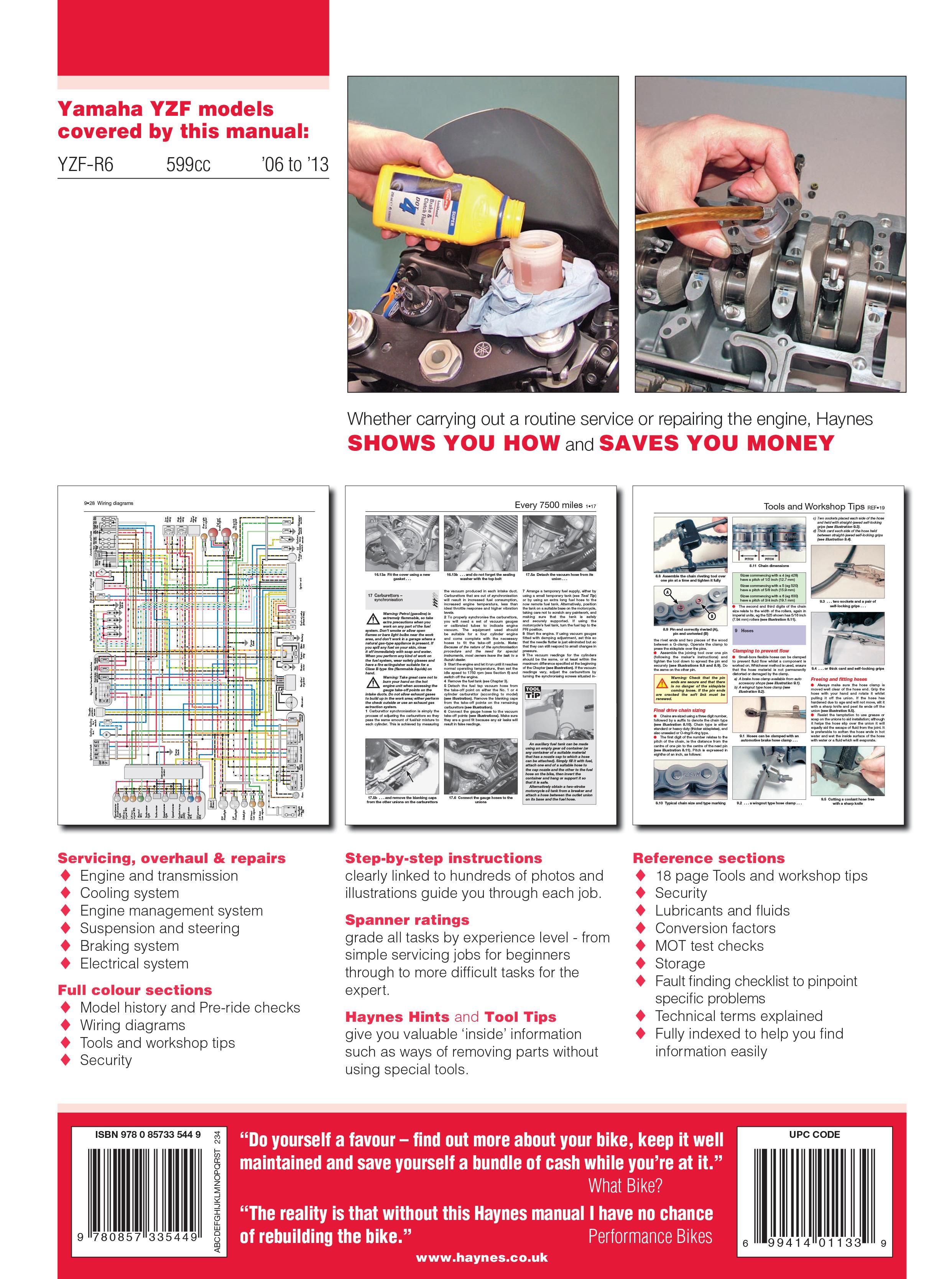 Yamaha YZF-R6 (06-13) Haynes Online Manual