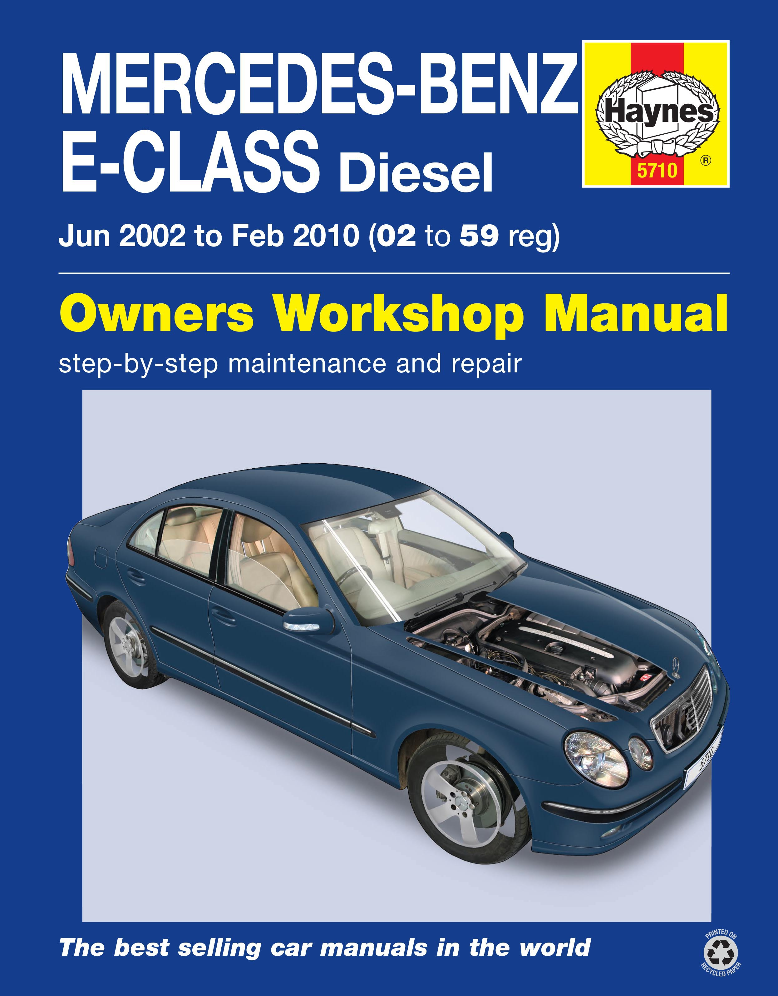 Enlarge Mercedes-Benz E-Class Diesel (02 to 10) Haynes Repair Manual