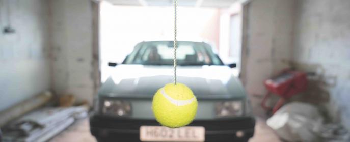 Car hacks tennis ball parking garage