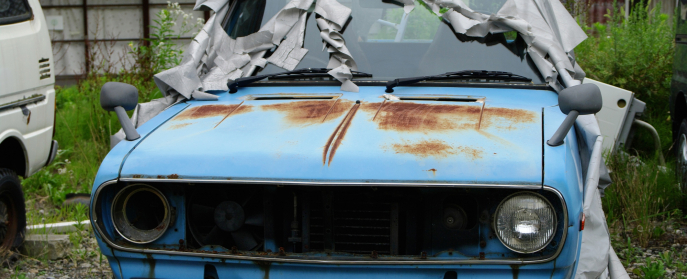 rusty car ran when parked