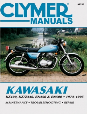 Kawasaki KZ400, KZ/Z440, EN450 and EN500 Motorcycle (1974-1995) Service Repair Manual