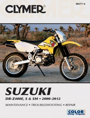 Suzuki DR-Z400E, S & SM Manual Motorcycle (2000-2012) Service Repair Manual Online Manual