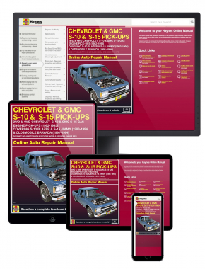 Chevy S-10 & GMC S-15 Gas Engine Pick-ups (82-93) covering S-10 Blazer & S-15 Jimmy (83-94) and Oldsmobile Bravada (91-94) Haynes Online Manual