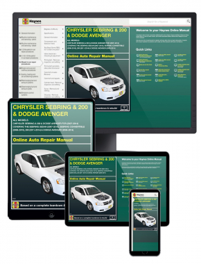 Chrysler Sebring & 200 & Dodge Avenger (07-14) covering the Sebring Sedan (07-10), Sebring Convertible (08-10), 200 (11-14) & Dodge Avenger (08-14) Haynes Online Manual