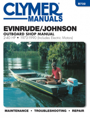 Evinrude Johnson 2-40 HP Outboards-Includes Electric Motors (1973-1990) Service Repair Manual