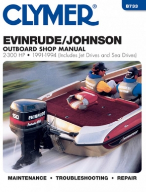 Evinrude Johnson 2-300 HP Outboards-Includes Jet Drives & Sea Drives (1991-1994) Service Repair Manual
