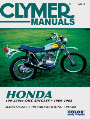 Honda 100-350cc OHC Singles Motorcycle (1969-1982) Service Repair Manual