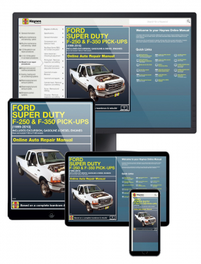 Ford Super Duty F-250 and F-350 Pick-ups and Excursion (99-10) Haynes Online Manual