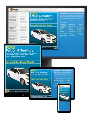 Ford Falcon (2002-2016) and Territory (2004-2016) Haynes Online Manual