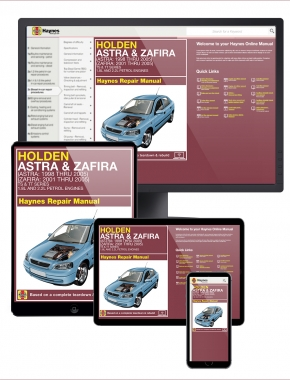 Holden Astra (98-05) and Zafira (01-05) Haynes Online Manual