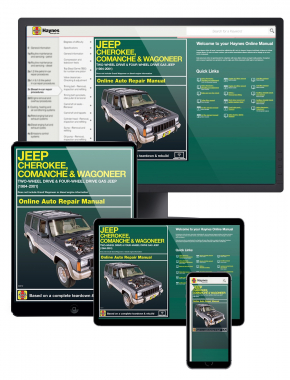 2WD and 4WD Gas Jeep Cherokee, Comanche and Wagoneer Limited (84-01) Haynes Online Manual