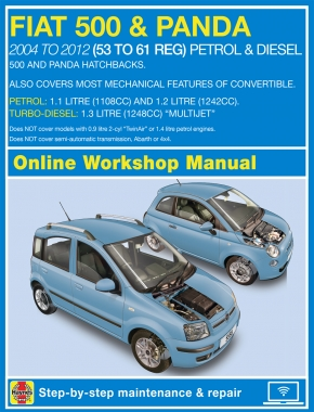 Fiat 500 and Panda (04 - 12) 53 to 61 Haynes Online Manual