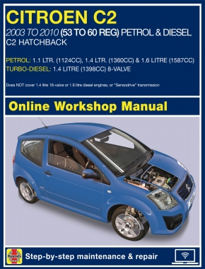 Citroen C2 Petrol and Diesel 2003 - 2010 Haynes Online Manual