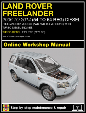 Land Rover Freelander (Nov 06 - 14) 56 to 64 Haynes Online Manual