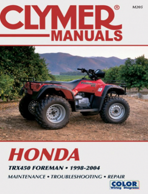 Honda TRX450 Foreman Series ATV (1998-2004) Service Repair Manual