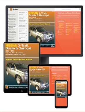 Nissan X-Trail / Dualis / Qashqai 2007-2018 Haynes Online Repair Manual