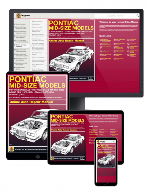 Pontiac Bonneville (82-86), Grand Am (73-80), Grand Prix (70-87), LeMans (70-81) & Tempest (70) Haynes Online Manual