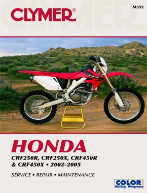Honda CRF250 & CRF450 Series Motorcycle (2002-2005) Service Repair Manual Online Manual