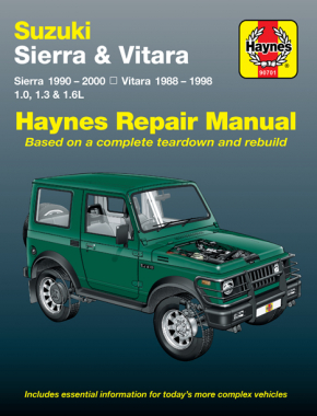 Suzuki Sierra & Vitara 1988-2000 Haynes Repair Manual