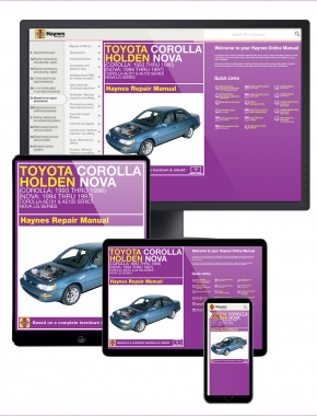 Toyota Corolla (93-96) & Holden Nova (94-97) Haynes Repair Manual