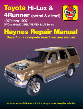 Toyota Hi Lux 2WD & 4WD/4 Runner (1979 - 1997) Haynes Repair Manual