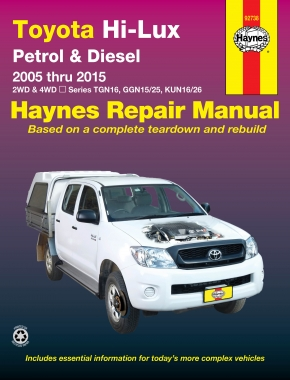 Toyota HiLux (2005-2015) Haynes Repair Manual
