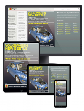VW New Beetle covering 1.8 and 2.0L Gasoline Engines e (98-10) and 1.9L TDI Diesel Engine (98-04) Haynes Online Manual