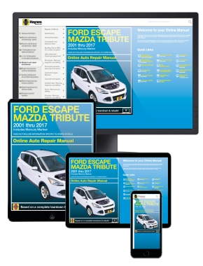 Ford Escape 2001-11, Mazda Tribute 2001-11 & Ford Kuga 2013-2016  Haynes Online Manual