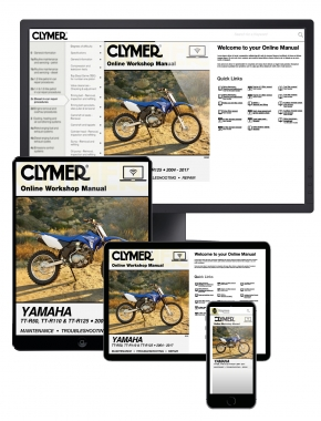 Yamaha TT-R50, TT-R110 and TT-R125 2004-2017 Clymer Online Manual