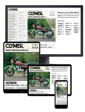 Honda CB750 Dual Overhead Cam Motorcycle, 1979-1982 Clymer Online Manual