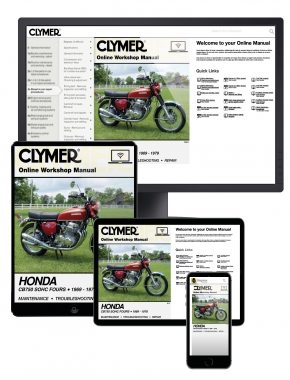 Honda CB750 Single Overhead Cam Motorcycle, 1969-1978 Clymer Online Manual