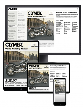 Suzuki VS700-800 Intruder/Boulevard S50 Motorcycle (1985-2009) Clymer Online Manual