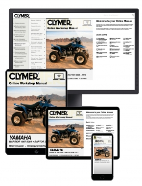Yamaha Warrior (1987-2004) & Yamaha Raptor ATV (2004-2013) Clymer Online Manual