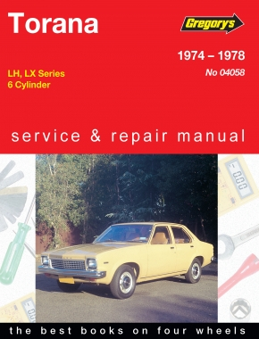 Holden Torana (74 - 78) Gregorys Repair Manual